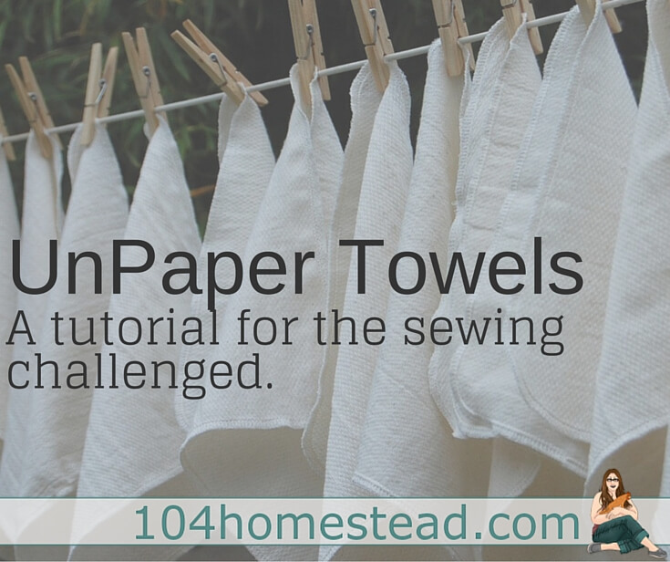 Unpaper Towels: The Green Alternative To Paper Towels