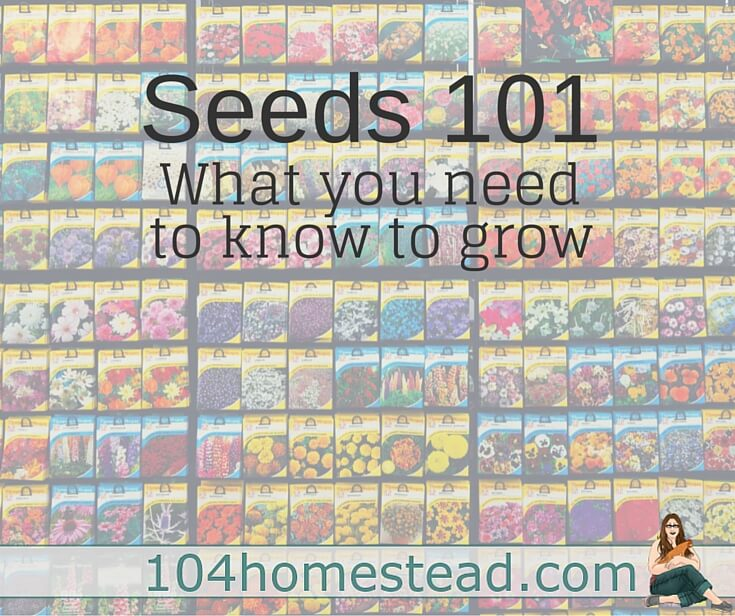 Discover to get your seeds, how to choose the type you want and best of all, I'll cover what are the jargon on the seed packet means.