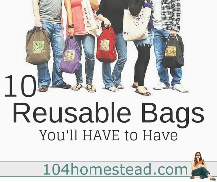 As being crunchy gains popularity, more people are coming up with creative ways to go green. Here are some great reusable bags for your crafting pleasure.