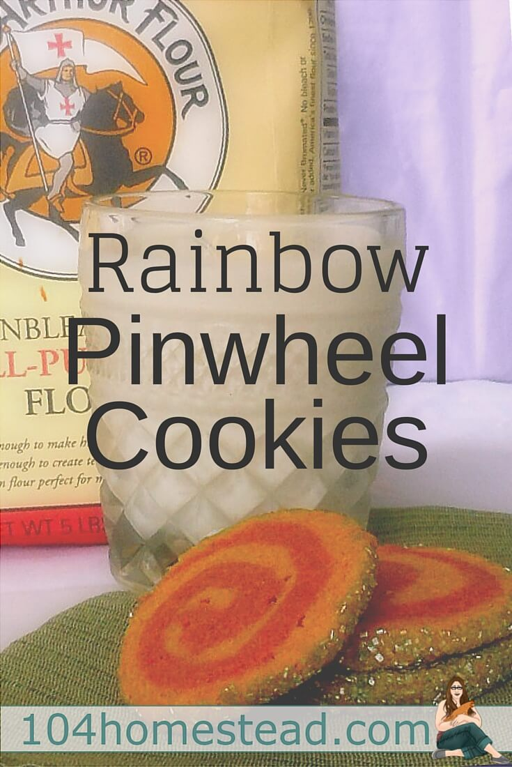 Rainbow Pinwheel Cookies are a great way to add a bit of color to any gathering or holiday. Plus, they look harder than they really are. They are sure to impress.