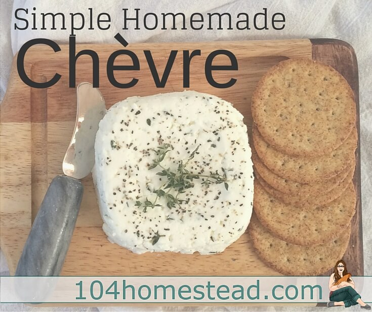 Chèvre is the easiest cheese in the world to make, and it's very forgiving. Perfect for a novice. Add fresh cracked pepper and an herb garnish, and impress your friends.