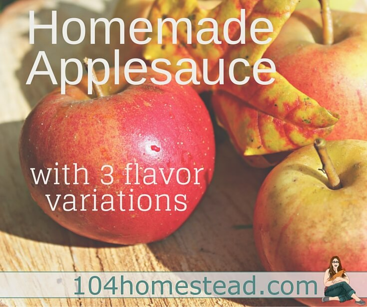 I eat applesauce not only as a snack, but I also enjoy recipes using applesauce. Homemade applesauce is delicious, but I like to give it some pizzazz with add-ons.