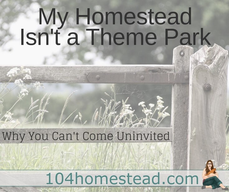 My homestead is not a theme park, petting zoo, or quaint local tourist spot. It is my home. Here's the reasons why you can't just stop by unannounced.