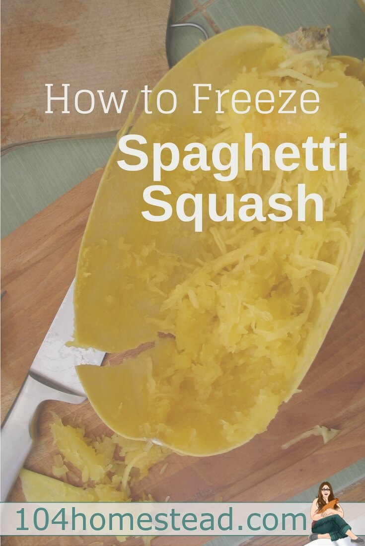 Do you have a bunch of squash on hand? Freeze it for later! Freezing spaghetti squash is super easy and takes less than an hour from start to finish.