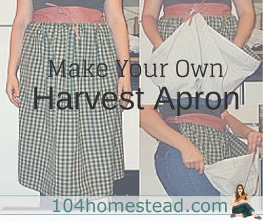 A harvest aprons is great for gathering up the produce you collect in your garden. I'll show you how to make one with just simple sewing. Add egg pockets to collect eggs.