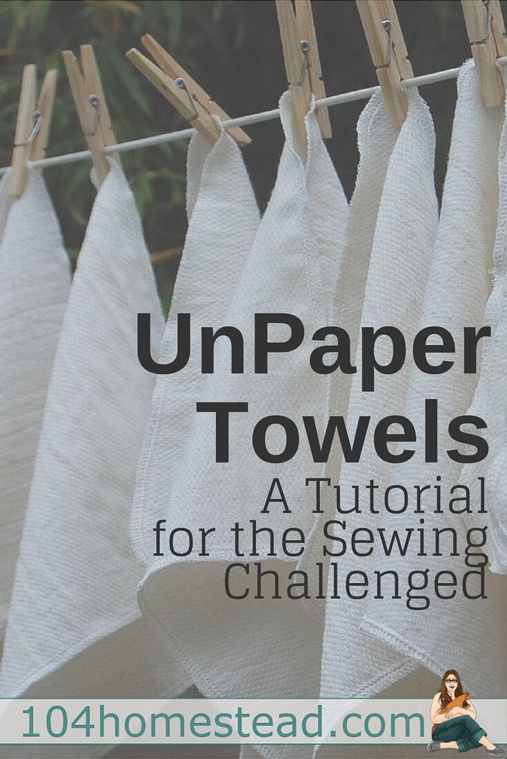 Learn how to make your own unpaper towels, even if you have limited sewing abilities. This tutorial for DIY unpaper towels doesn't even require sewing in a straight line!