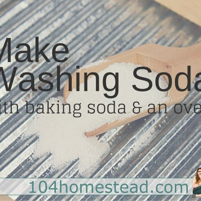 Make Washing Soda with Baking Soda & Heat