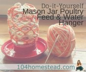 DIY Poultry Feed & Water Hanger
