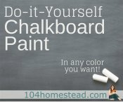 Custom Color DIY Chalkboard Paint