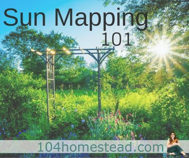 Sun Mapping is important so you know where to put your plants. This is critical for flowers as well as vegetables and other produce. Map out your sun.
