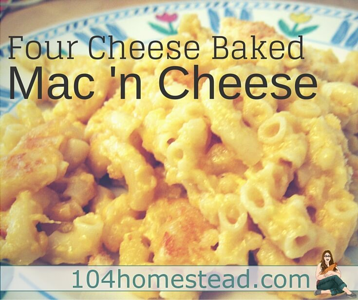 This baked macaroni recipe is a staple in my half vegetarian household. The carnivores don't mind missing their meat dish when this is served. It is quick and easy to make.