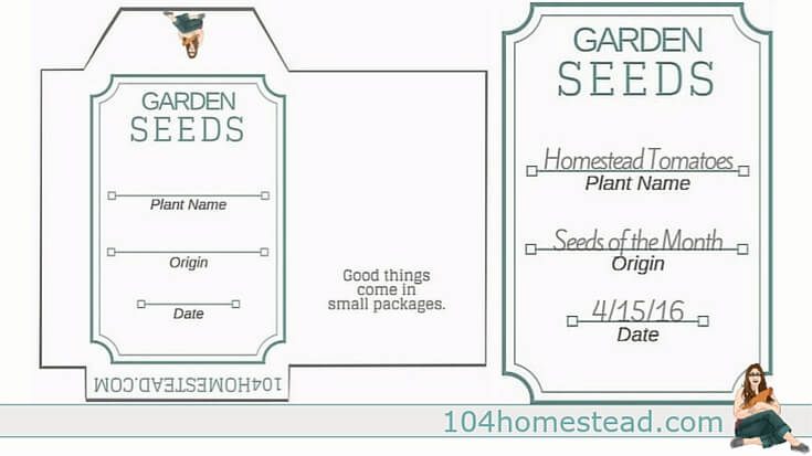 image relating to Printable Seed Packets identified as Seed Conserving Free of charge Printable Seed Packets