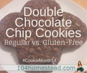 Double Chocolate Chip Cookies (Regular & GF)