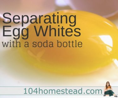 Today I am going to be showing you how to separate egg whites with a soda bottle. It is quick, easy, and keeps your hands clean. Plus, no broken yokes.