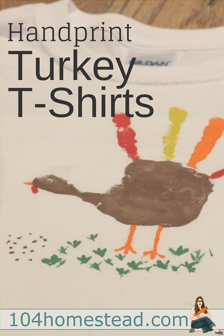 T-shirt painting is super fun and super easy. Make a handprint turkey t-shirt for your little one to wear for Thanksgiving.