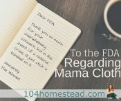 To the FDA Regarding Mama Cloth