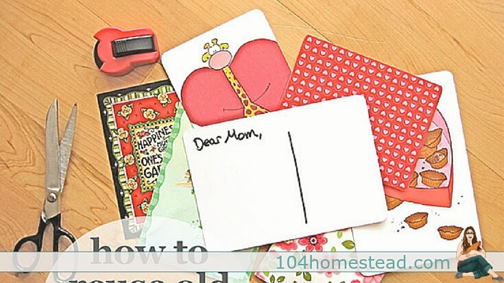 10 fun ways to upcycle, repurpose, and give new life to the holiday and greeting cards lovingly sent to you. These ideas work great for Valentines and birthday cards as well.