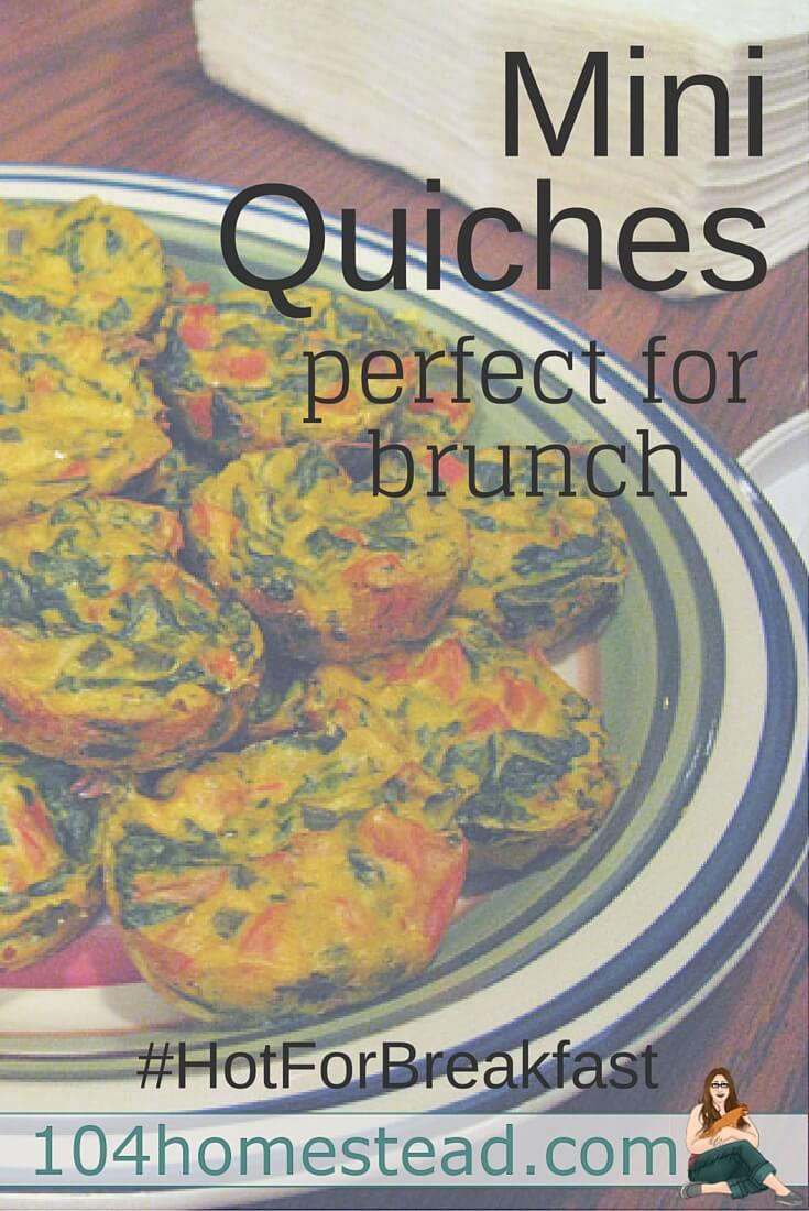 Every year for Christmas, I host a big family brunch. These mini quiches are always a huge hit. I will often prepare them on weekends as well, since I can customize each quiche for every member of the household.