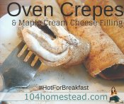 Oven Crepes Recipes & Maple Cream Cheese Filling