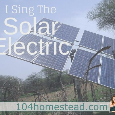 I Sing the Solar Electric