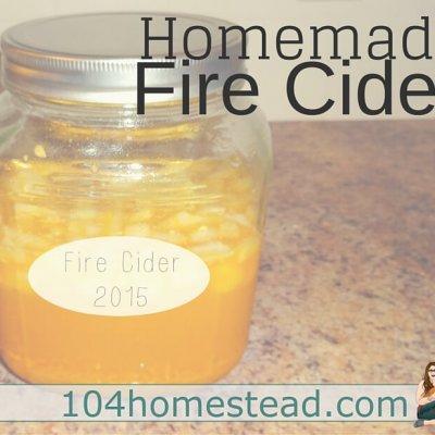 Homemade Fire Cider for Cold & Flu Season