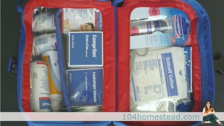 Homesteading is all about self-sufficiency – but what do we do when we become injured/ill? It's important to have a self-sufficient first aid kit on hand.