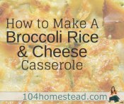 An Easy Broccoli Rice & Cheese Casserole