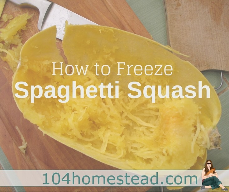 How to Freeze Spaghetti Squash