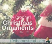 Easy DIY Crochet Christmas Ornaments
