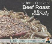 2-for-1 Crockpot Beef Roast plus Bonus Bean Soup!