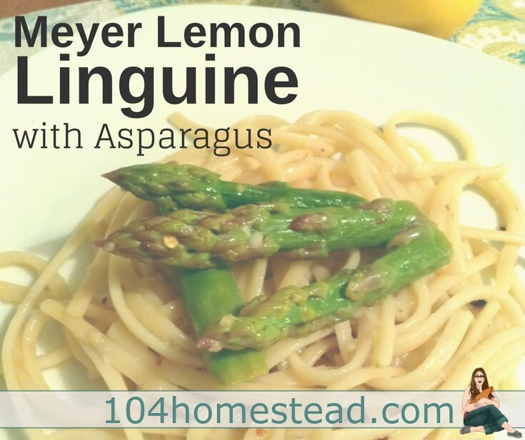 Zesty Meyer Lemon Linguine with Asparagus
