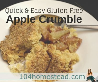 I have struggled to find an amazing gluten free apple crumble recipe. I've played with variations for several years now, and have finally perfected it.