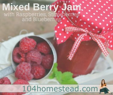 Mixed berry jam is perfect for this time of year. Strawberries are just wrapping up, raspberries are abundant, and we're starting to see blueberries.