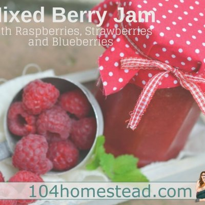 Mixed Berry Jam with Raspberries, Strawberries, and Blueberries