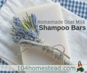 Recipe: Goat Milk Shampoo Bars for Healthy Hair