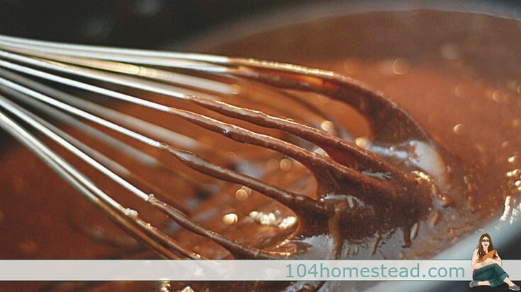 Whisk in milk and stir continuously over medium heat until mixture thickens and is bubbling.