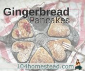 Grandma's Gingerbread Pancakes with Molasses