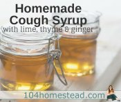 Homemade Cough Syrup with Lime, Thyme & Ginger